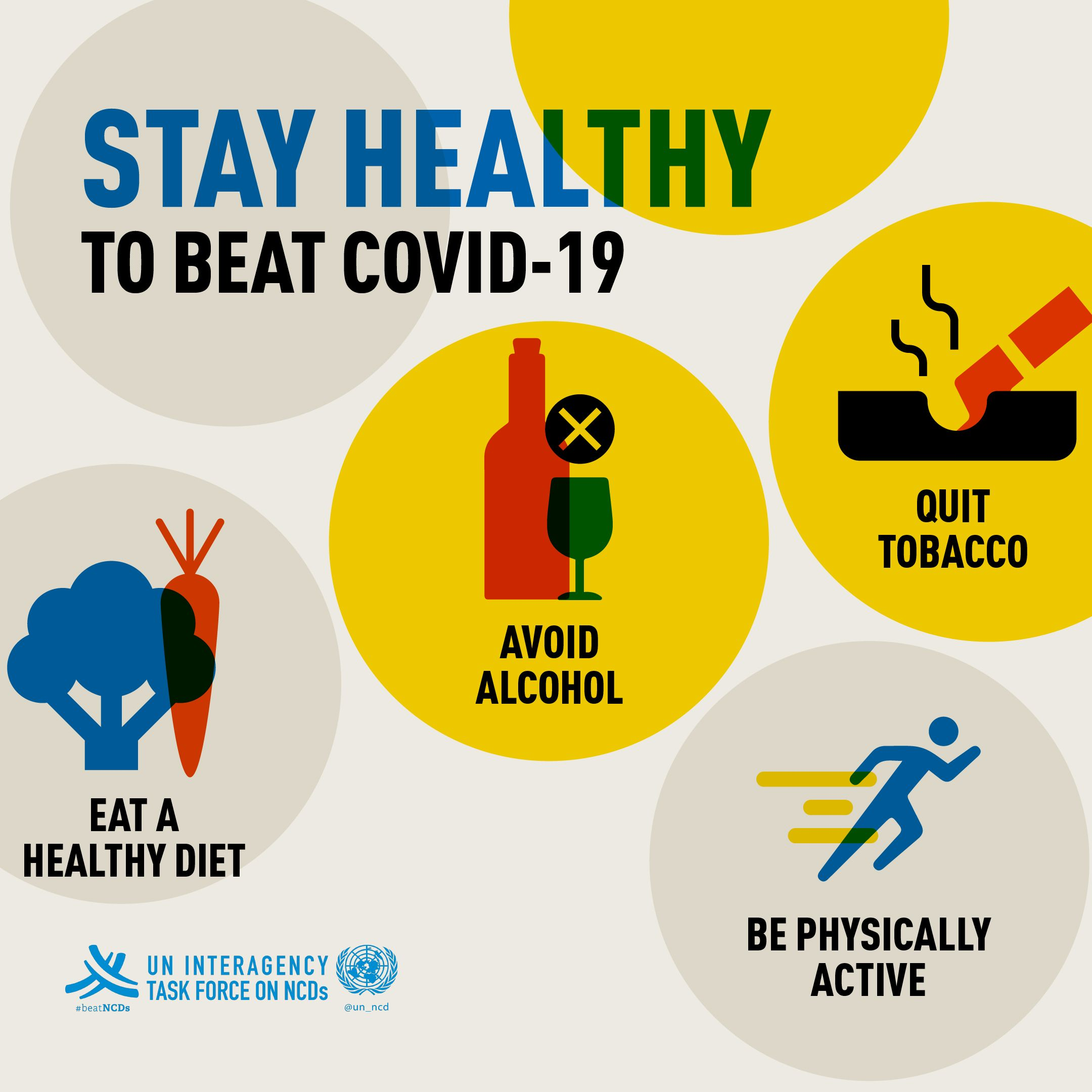 4⃣ steps to stay fit to beat COVID19 🍊 eat a healthy