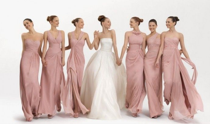 12852b02130 damas de honor rosa clará | wedding | Vestidos de damas de honor ...