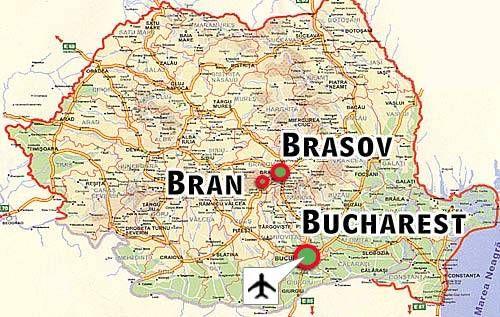 Romania Map Bucharest Brasov Bran Castle Dracula Pictures