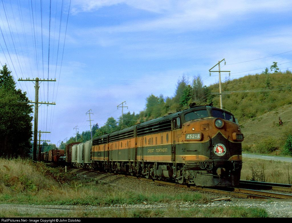 Railpictures net photo gn 452 a great northern emd f7 a for Railpictures