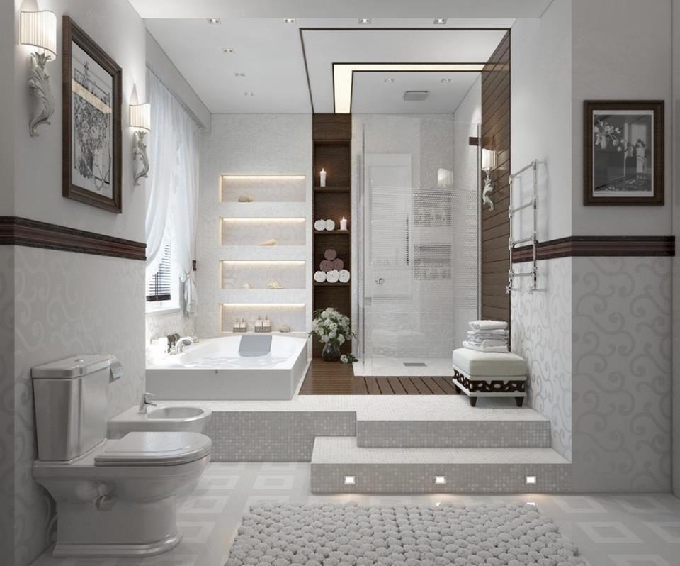 Raised Tub And Shower Basement Bathroom Remodeling Bathroom