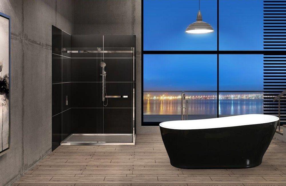 Oceania Milano Tub And Shower Bathroom Design Luxury Interior