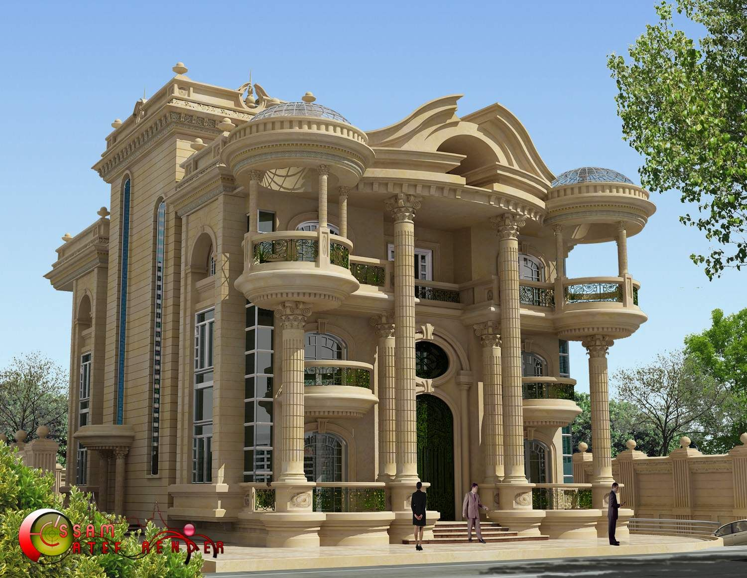 Islamic villa pinterest villas for Architecture villa design
