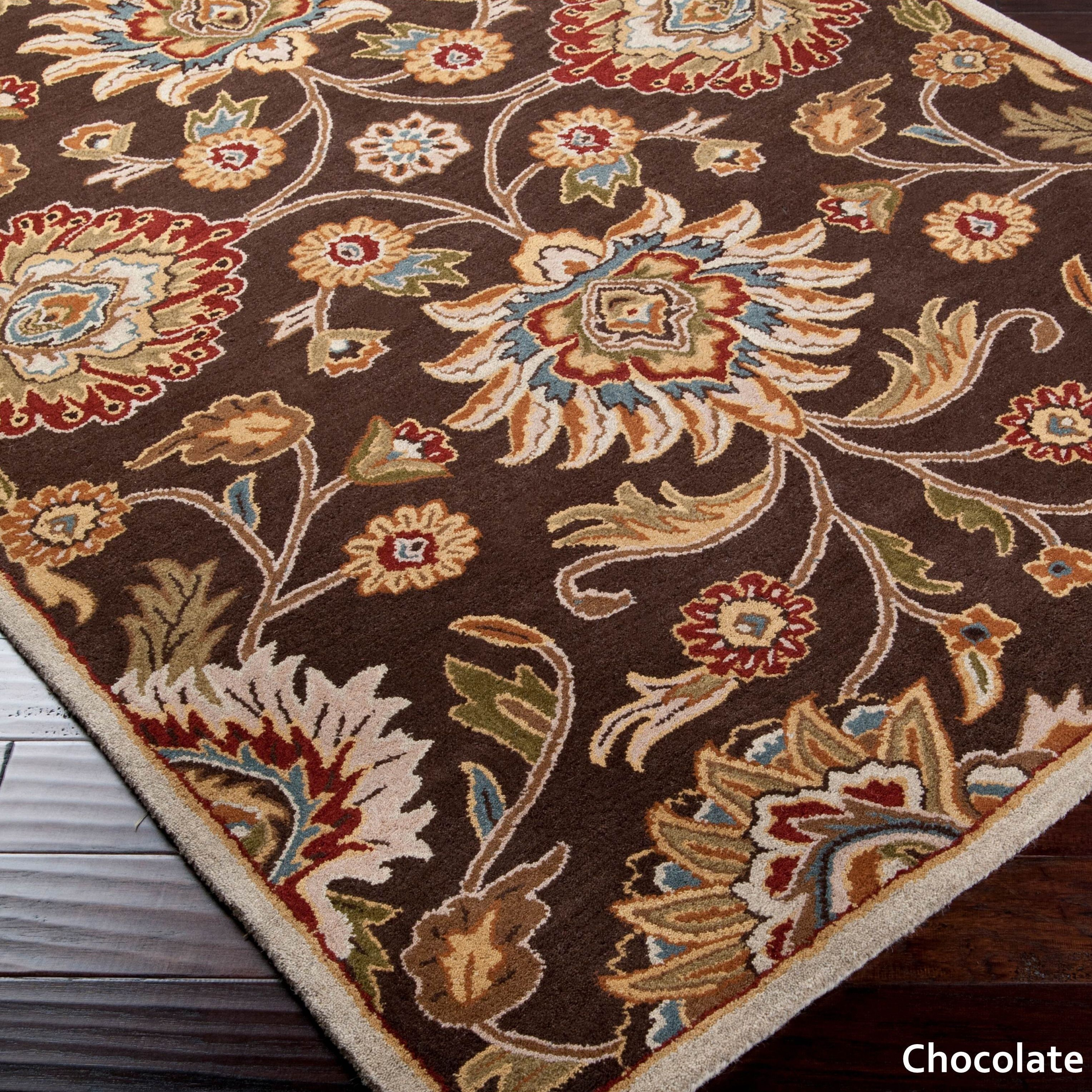Patchway Hand Tufted Paisley Wool Area Rug 4 X 6 Chocolate Brown Chocolate Brown Wool Area Rugs Hand Tufted Rugs Area Rugs