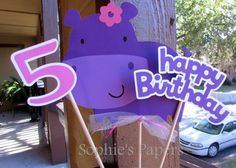 Hey, I found this really awesome Etsy listing at https://www.etsy.com/listing/214219944/girl-hippopotamus-themed-birthday-party