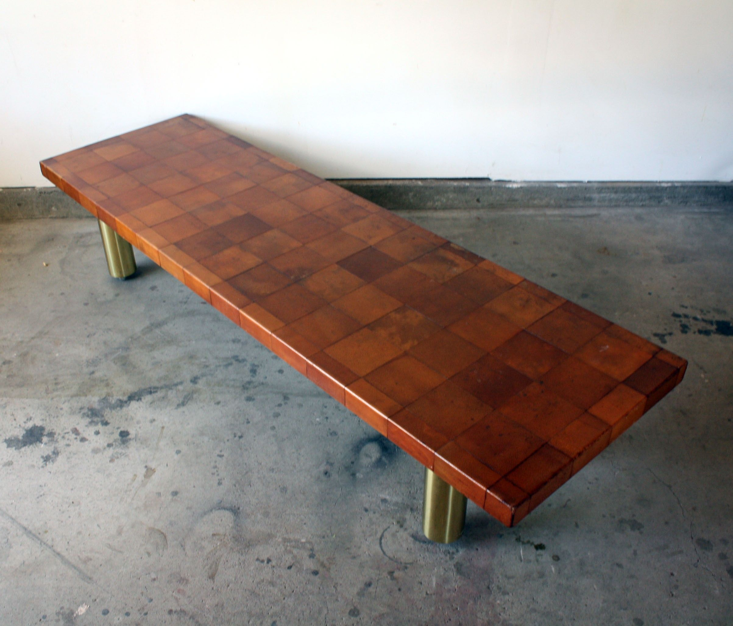Modernist Leather Coffee Table $3900 Berwyn