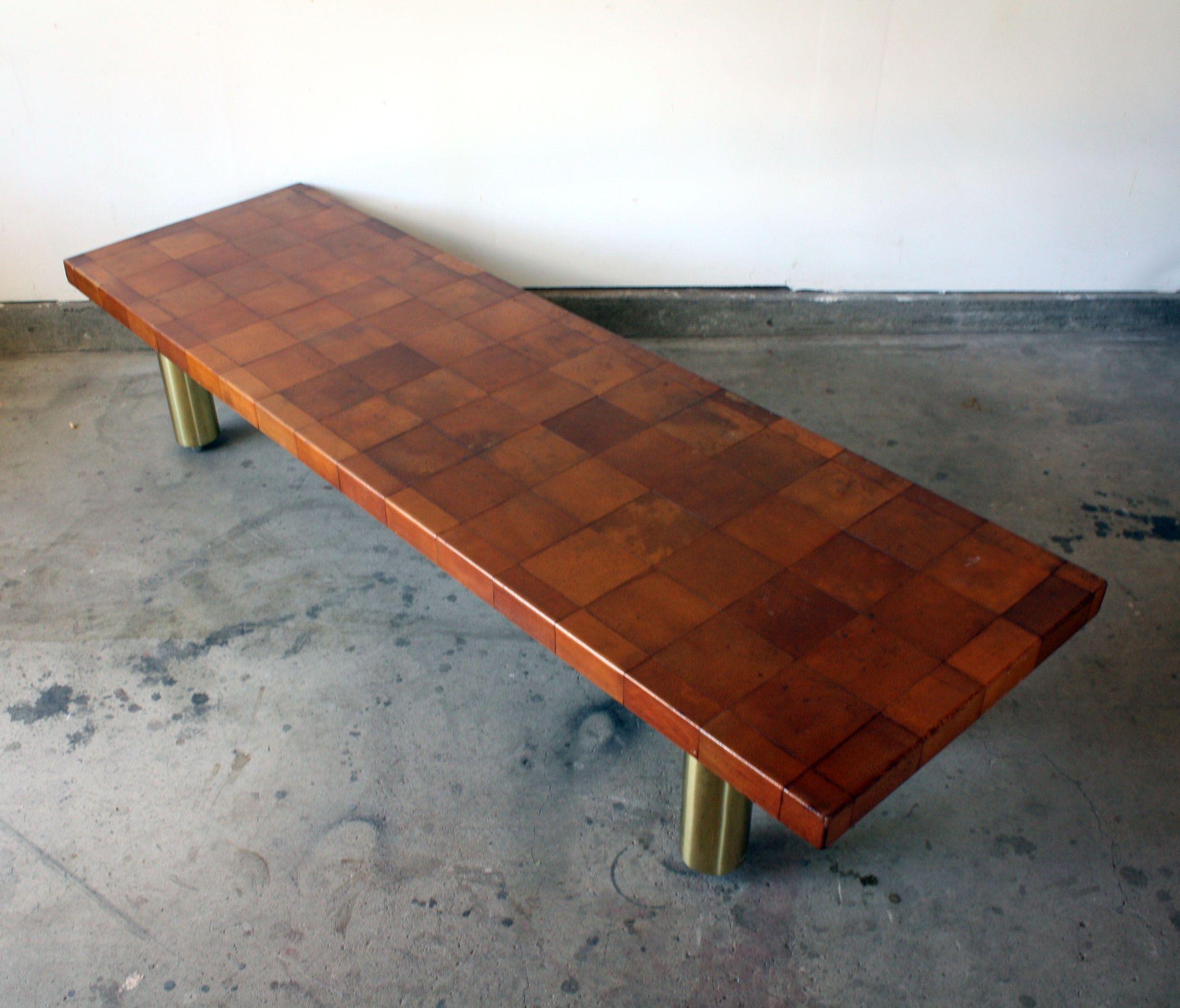 Modernist Leather Coffee Table $3900 Berwyn