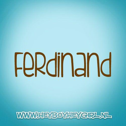 Ferdinand (Voor meer inspiratie, en unieke geboortekaartjes kijk op www.heyboyheygirl.nl)