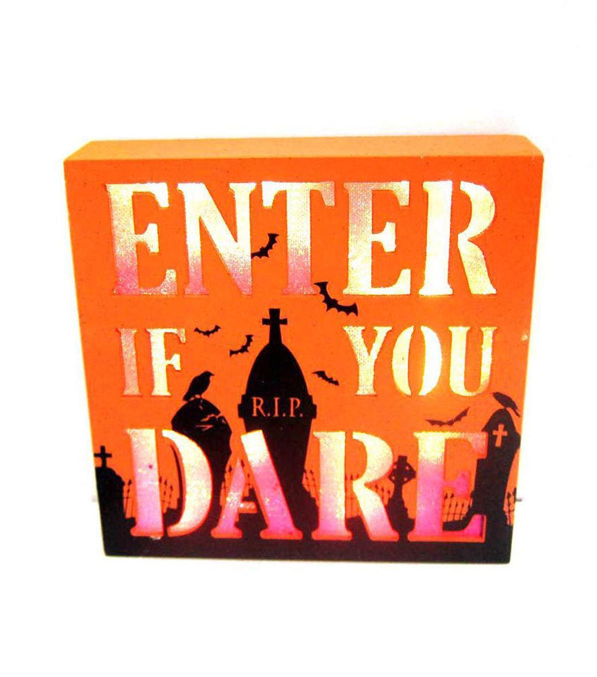 Maker's Halloween LED Table Décor-Enter If You Dare