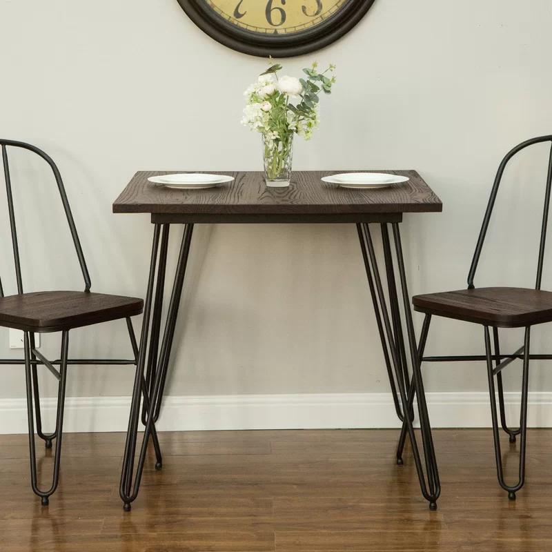 Szymanski Industrial Dining Table In 2021 Metal Dining Table Square Dining Tables Dining Table Legs