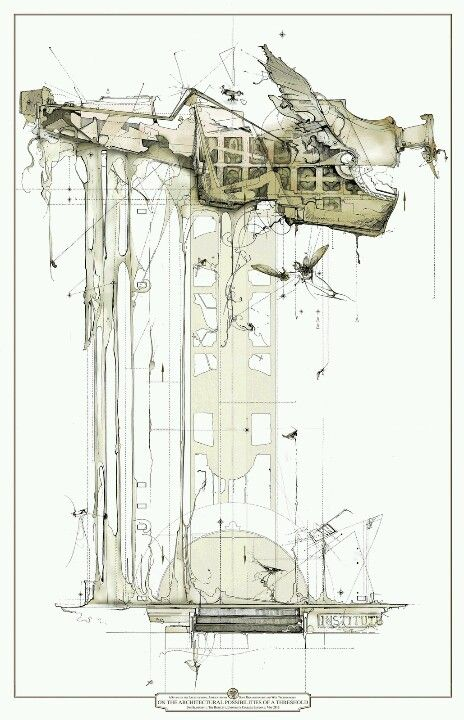 architectural drawings #drawing #architecture #style #presentation #illustration