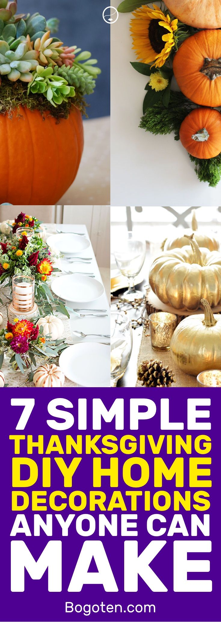 7 Simple Home Decor Thanksgiving DIYs | Diy Thanksgiving Decorations,  Thanksgiving Decorations And Diys