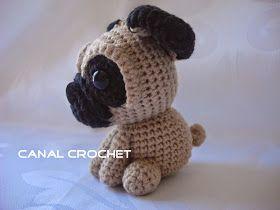 Amigurumi Lion Perritos : Canal crochet: perro pug amigurumi patrón libre: crochet