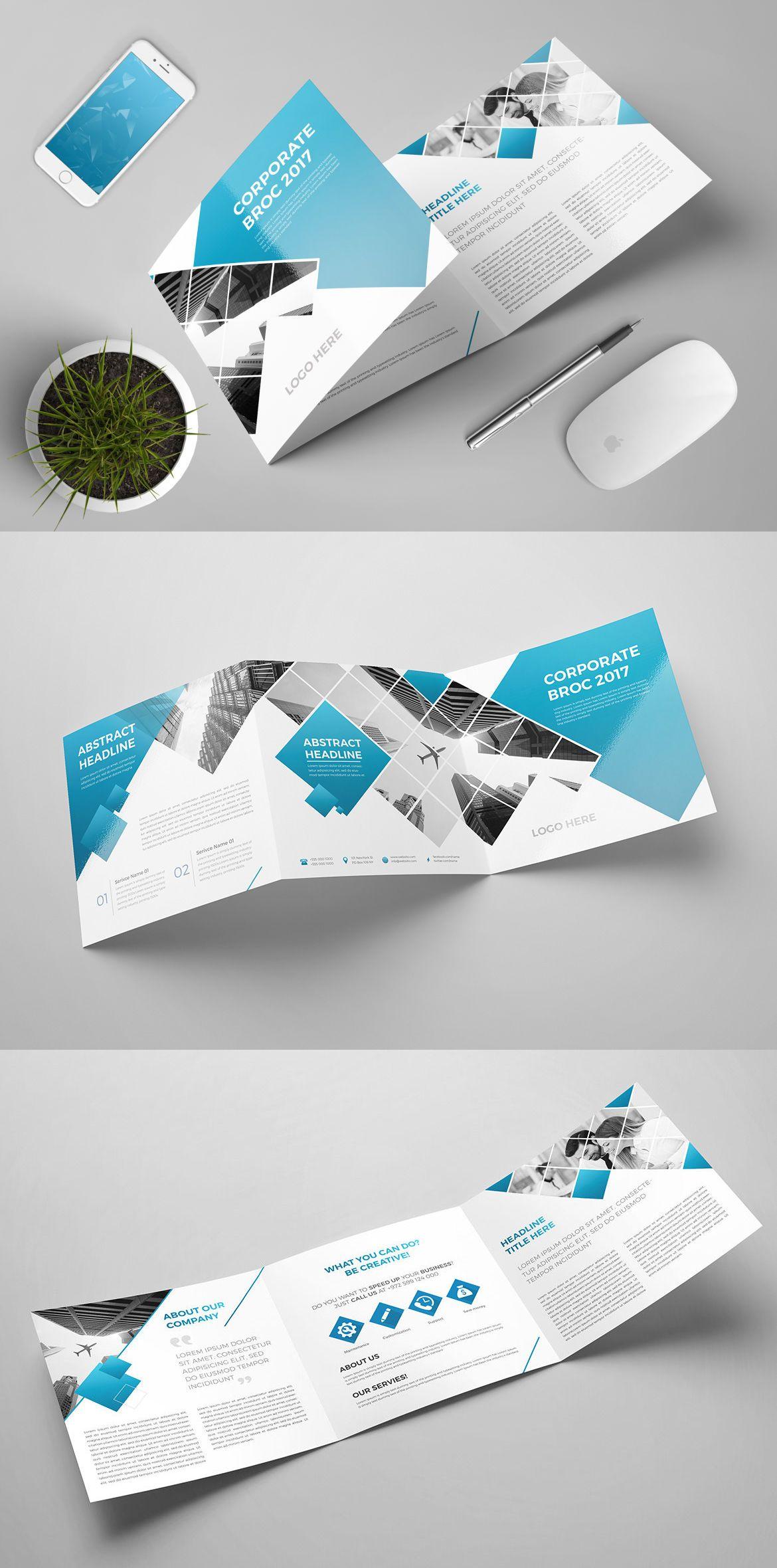 tri fold square brochure template psd brochure templates