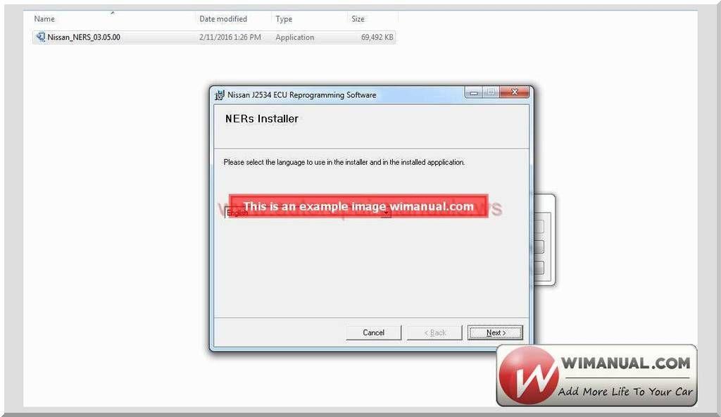 Nissan Ners Ecu Reprogramming Software V03 05 00 – Size: 67