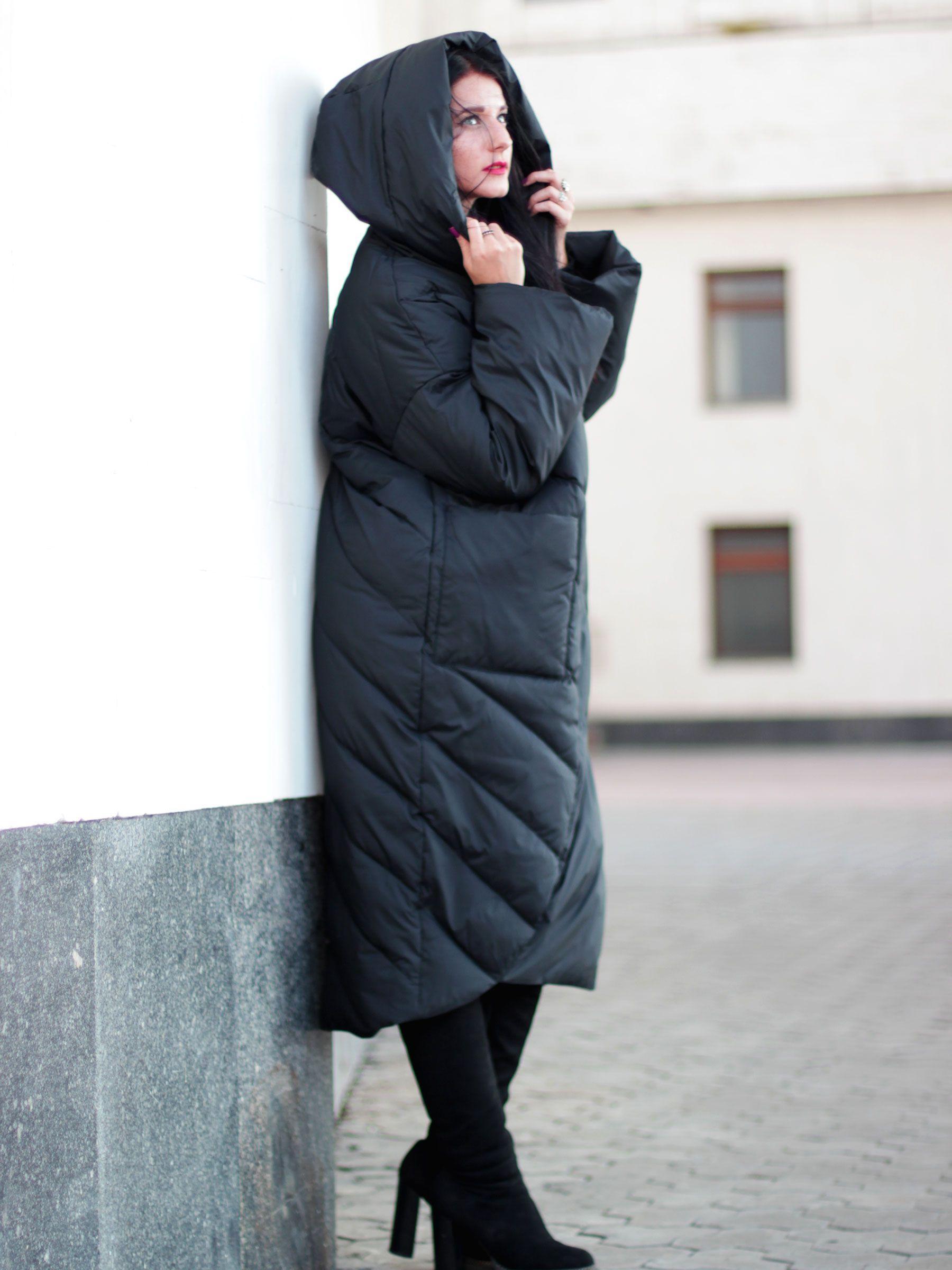 Пуховик одеяло женское зимнее тёплое Torgcoi 1908 молодёжное эксклюзив  Пуховики одеяло в стиле оверсайз от динамически 6c9a088cce3