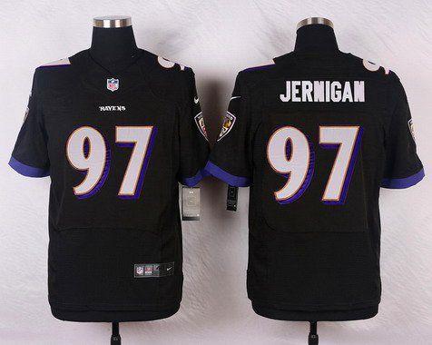 Men's Baltimore Ravens #97 Timmy Jernigan Black Alternate NFL Nike Elite Jersey