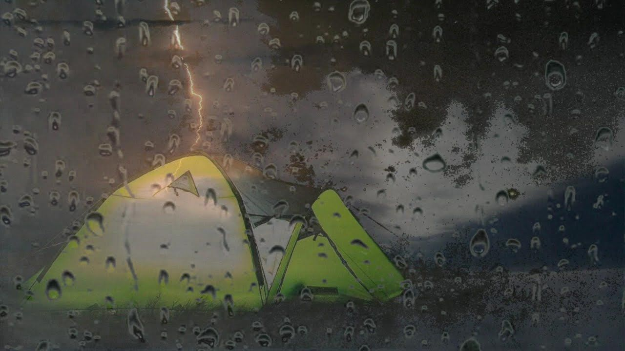 Rain And Thunder On A Tent Nature Sleep Sounds Thunderstorm Sounds Rain And Thunder Nature Movies Thunderstorm Sounds