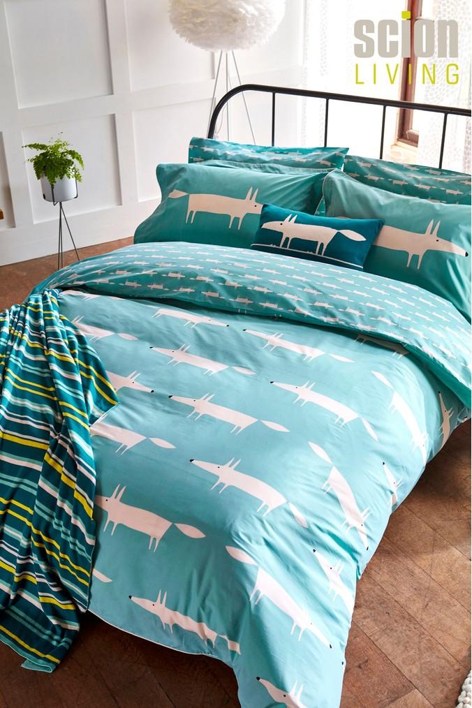 Scion Mr Fox Duvet Cover Teal Bed Linens Luxury Scion Mr Fox Single Duvet Cover
