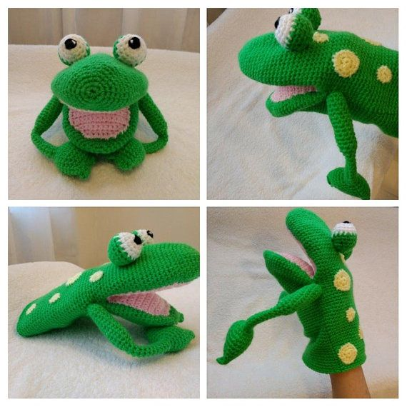 "PATTERN PDF Puppet Amigurumi Crochet ""Giuseppe"", the Frog | Patrones ..."