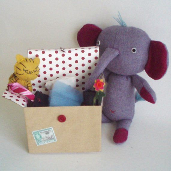 Chezbeeperbebe Inspiration! Eleanor the Elephant with Trunk Full of Costumes