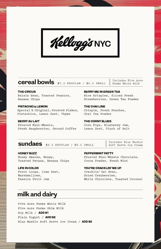 Kellogg\'s Opens Fancy Cereal Cafe in NYC Serving Fancy Frosted ...