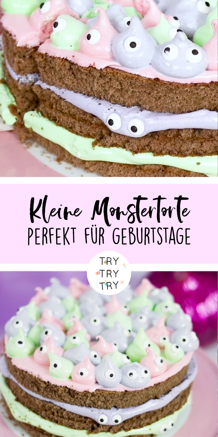 Kleine Monstertorte mit Marshmallow-Frosting #amazingcakes