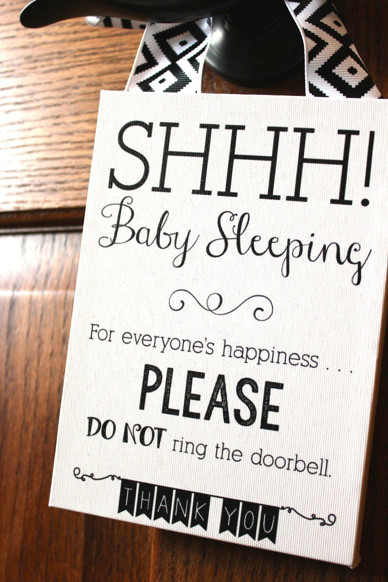 image regarding Baby Sleeping Sign Printable named Shhh! Kid Sleeping\u201d Indication Items Little one sleeping signal, Little one