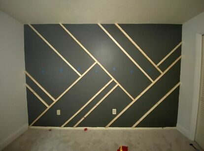 How to Make a Geometric Accent Wall DIY