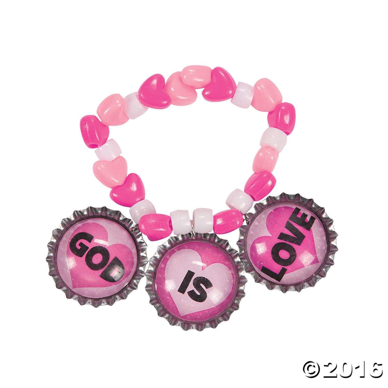 God is Love Bottle Cap Bracelets