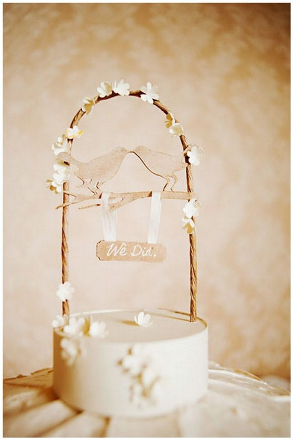Pinspired: Rustic Cake Toppers