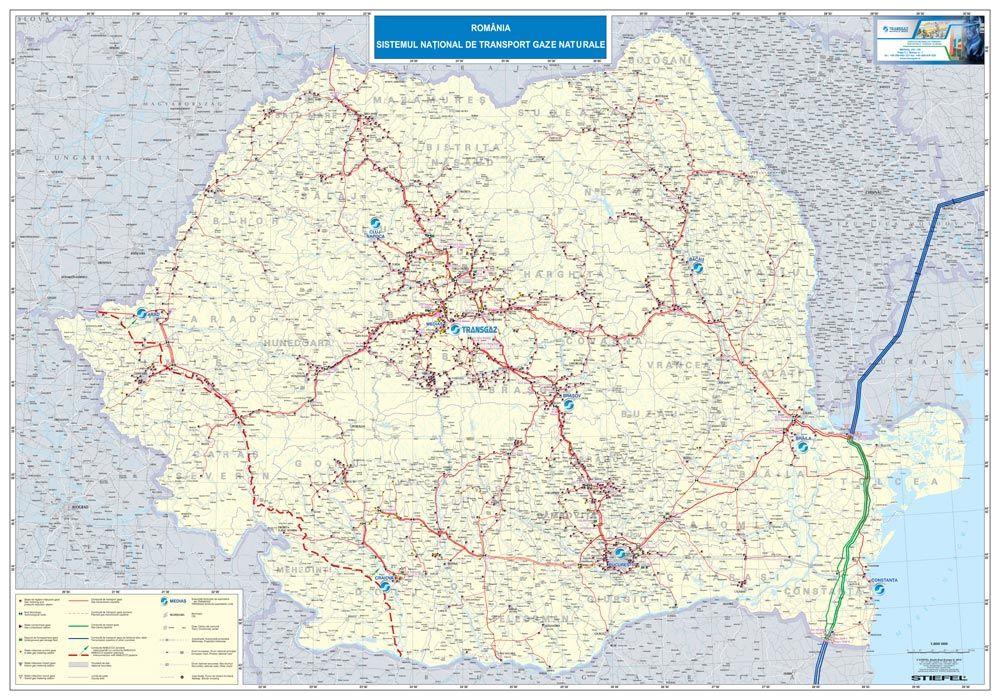 Harta Personalizata Realizata Pentru Transgaz Medias Map