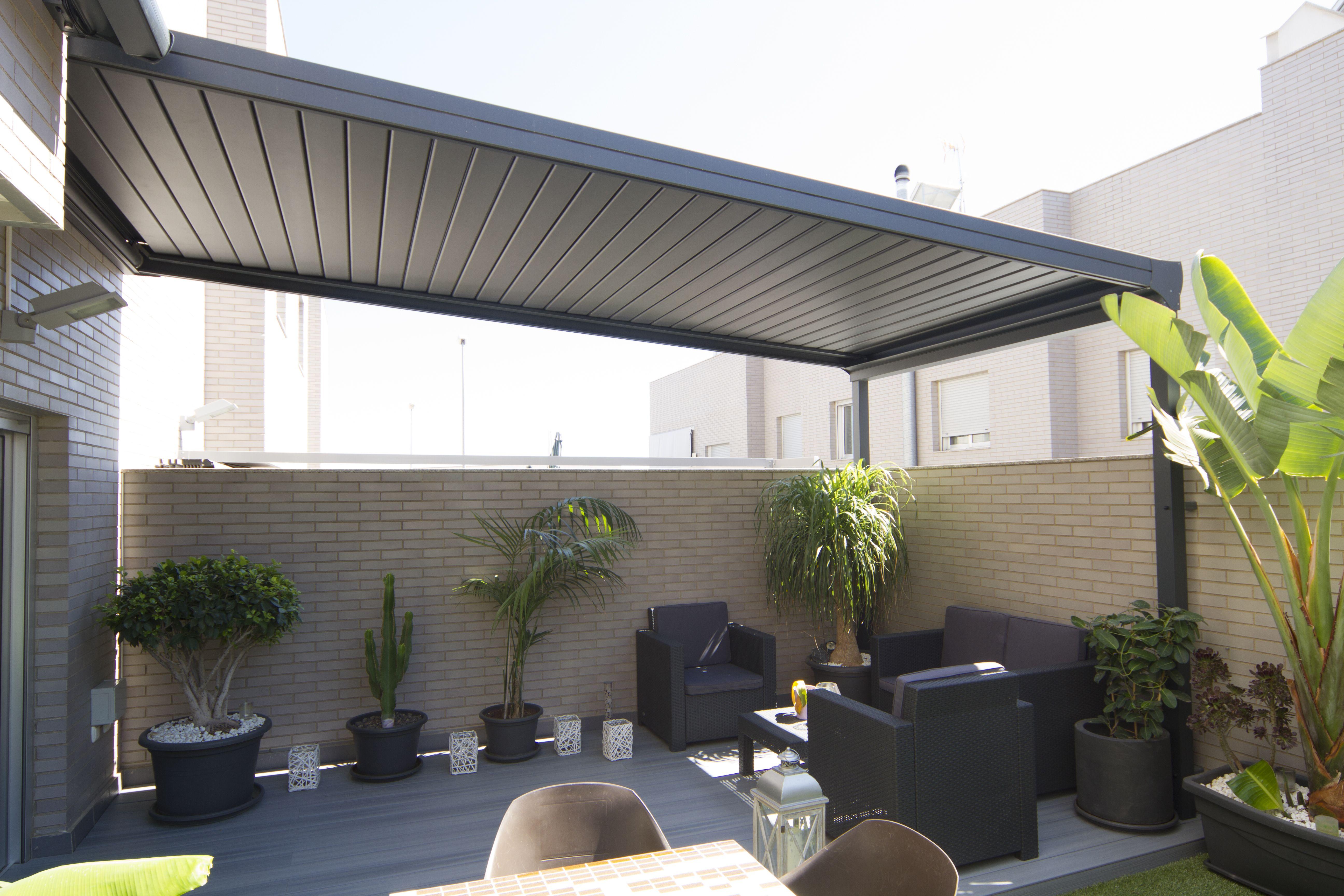 Techos bioclim ticos de lamas de aluminio graduables brisa soleada canopy pinterest - Techos pergolas ...