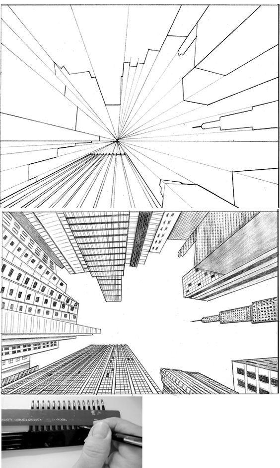 onderwijs en zo voort 3358 perspectieftekenen tussen de wolkenkrabbers. Black Bedroom Furniture Sets. Home Design Ideas