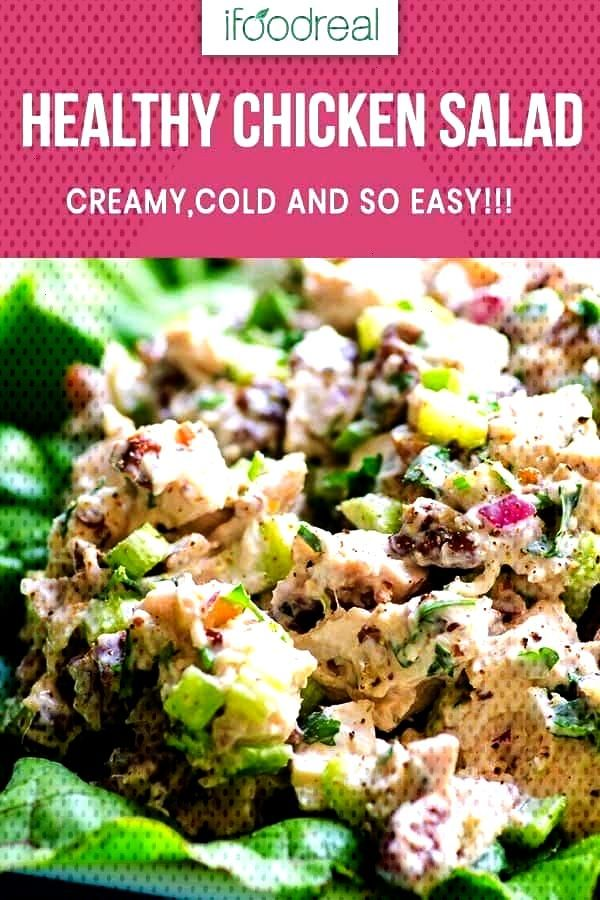 easy and simple ingredients Healthy Chicken Salad Recipe that is a fridge-must for hot summer days,