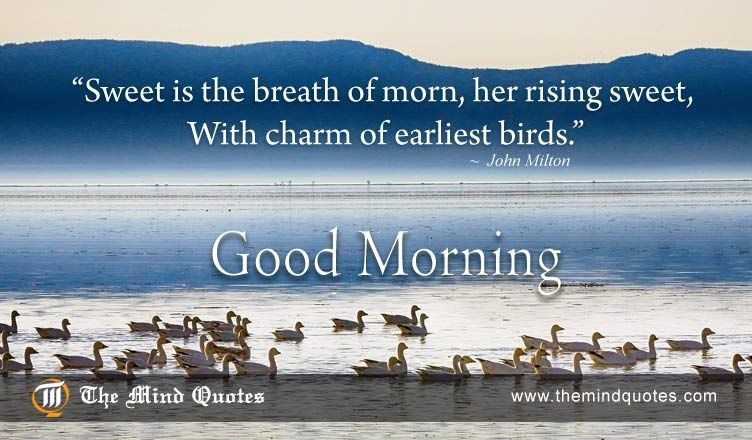 Sweet Is The Breath Of Morn Her Rising Sweet With Charm Of