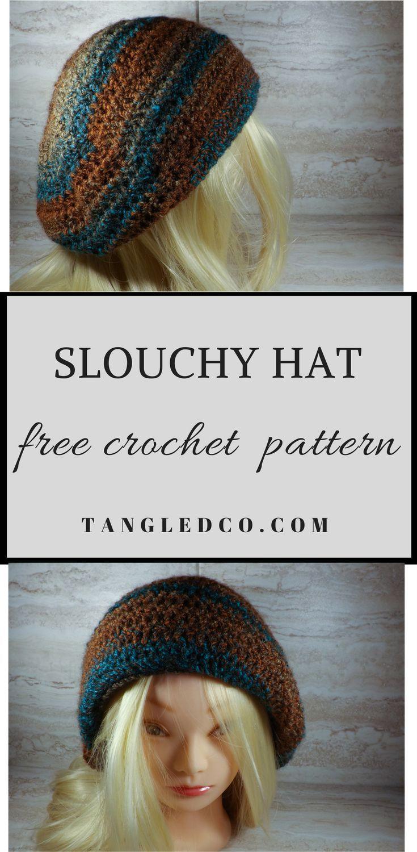 Crochet Slouchy Hat - Free Crochet Pattern | Crochet and Knit ...