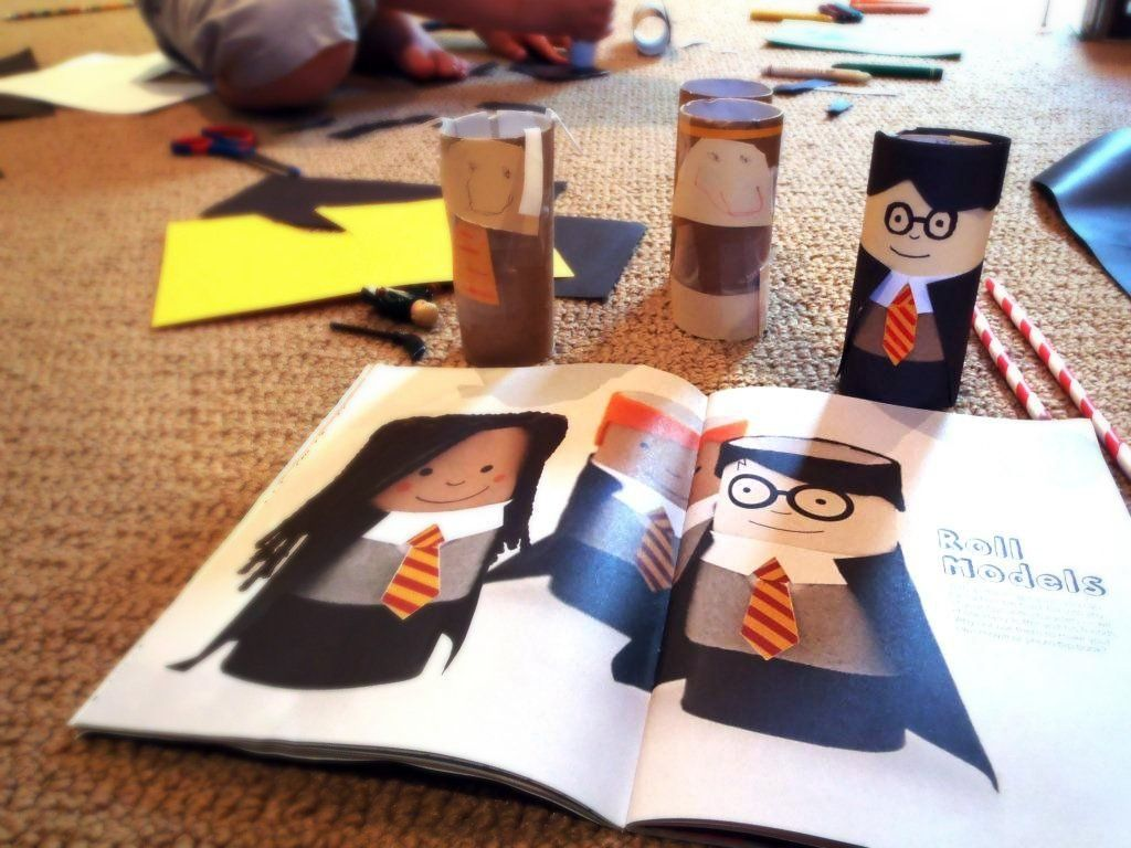 Harry Potter Craft Ideas For Kids Part - 28: Harry Potter Toilet-paper Roll Craft.