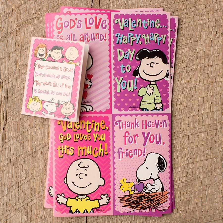 Peanuts Children S Valentines God S Love 34 Boxed Cards Great
