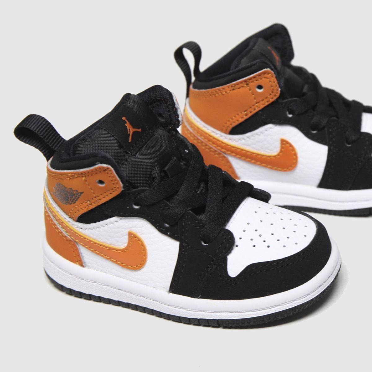 nike jordan black \u0026 orange air jordan 1