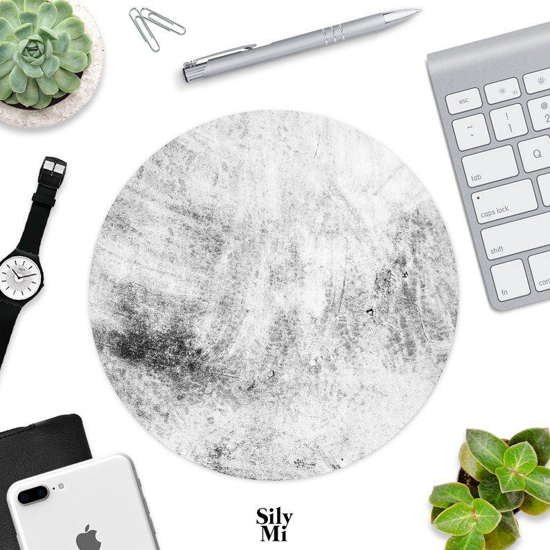 Mouse Pad Grey Concrete Mousepads Desk Accessories Office