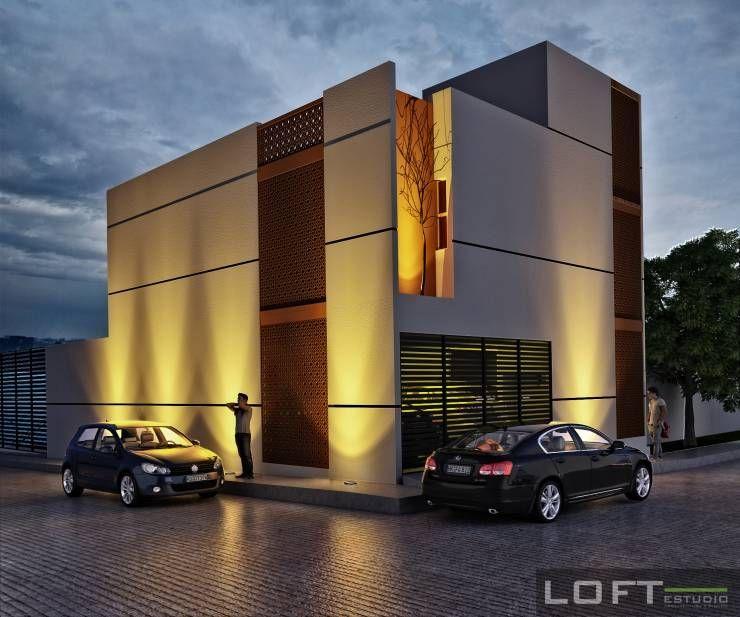 Casa beth fachada exterior casas de estilo moderno por for Fachadas de casas estilo moderno