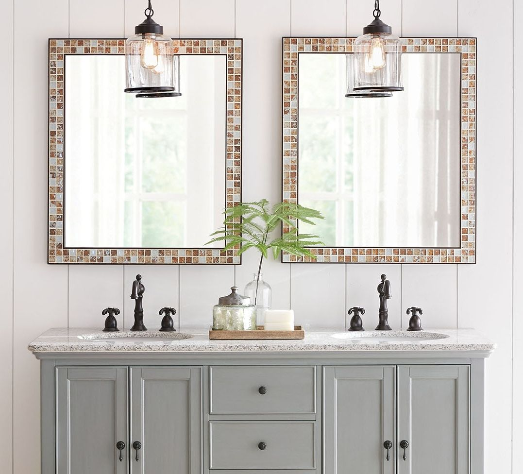 Want any easy bathroom update? Mirrors will do the trick ...