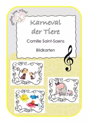 Bildkarten Zu Karneval Der Tiere Von Camille Saint Saens Unterrichtsmaterial In Den Fachern Kita Musik Bildkarten Unterrichtsmaterial Der Karneval Der Tiere