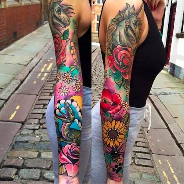 4a396c0188a4d Traditional style tattoos are making a big comeback and artist Matt Webb is  a true master of this style. His line work and colour choices are simply ...
