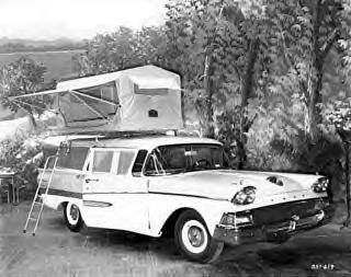 Even back in the 50s, people knew Tent Top camping with tent units