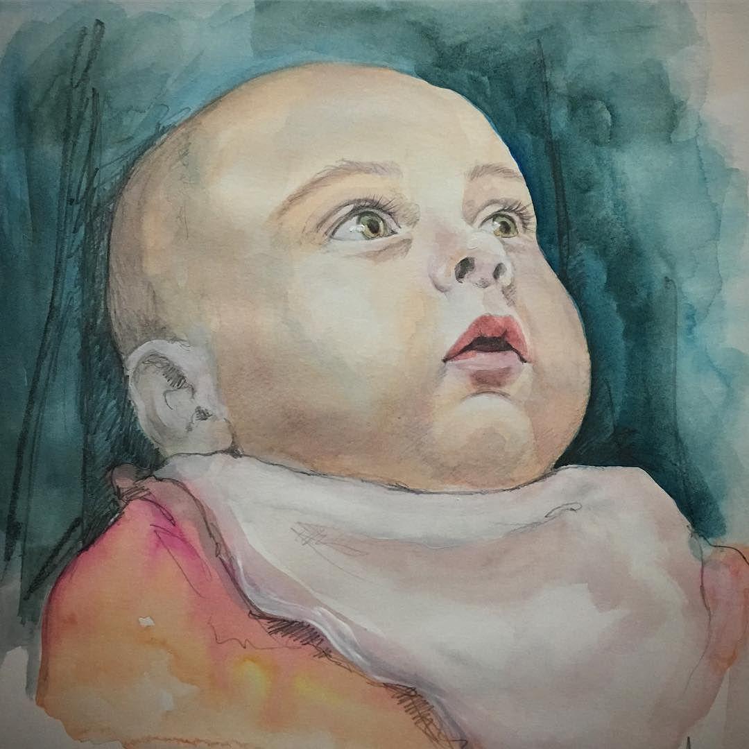Tanti auguri ad Emilio! #portrait #acquerello #ritrattidelicati #ritrattobambino