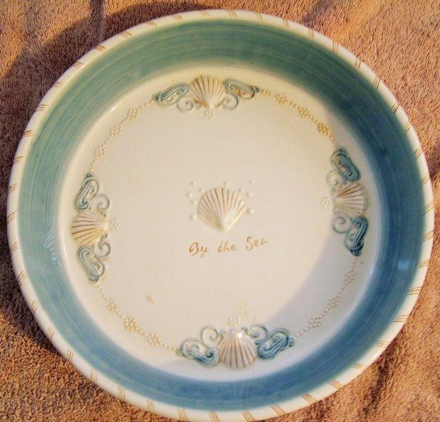 Ceramic Pie Plate Dish Pan - 11  inch Diameter BY THE SEA SHELL DESIGN & Ceramic Pie Plate Dish Pan - 11