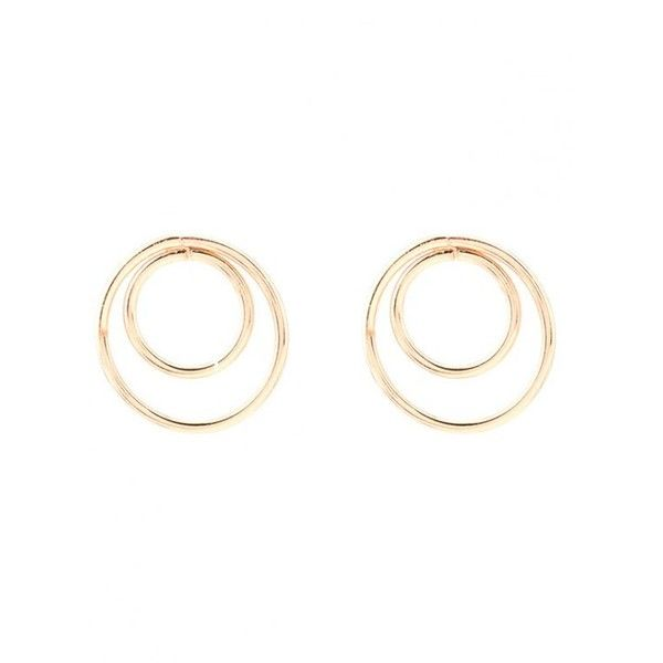 d525d2930 Minimalist Design Circles Earrings Golden (11 CNY) ❤ liked on Polyvore  featuring jewelry, earrings, earring jewelry, circle earrings, golden  earring, ...