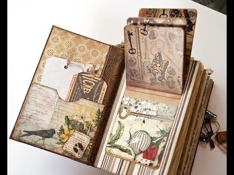 Tsunami Rose Dt Project For December Mini Junk Journal A Lady X60 S Diary Sold Youtube Vintage Journal Mini Albums Vintage Junk Journal